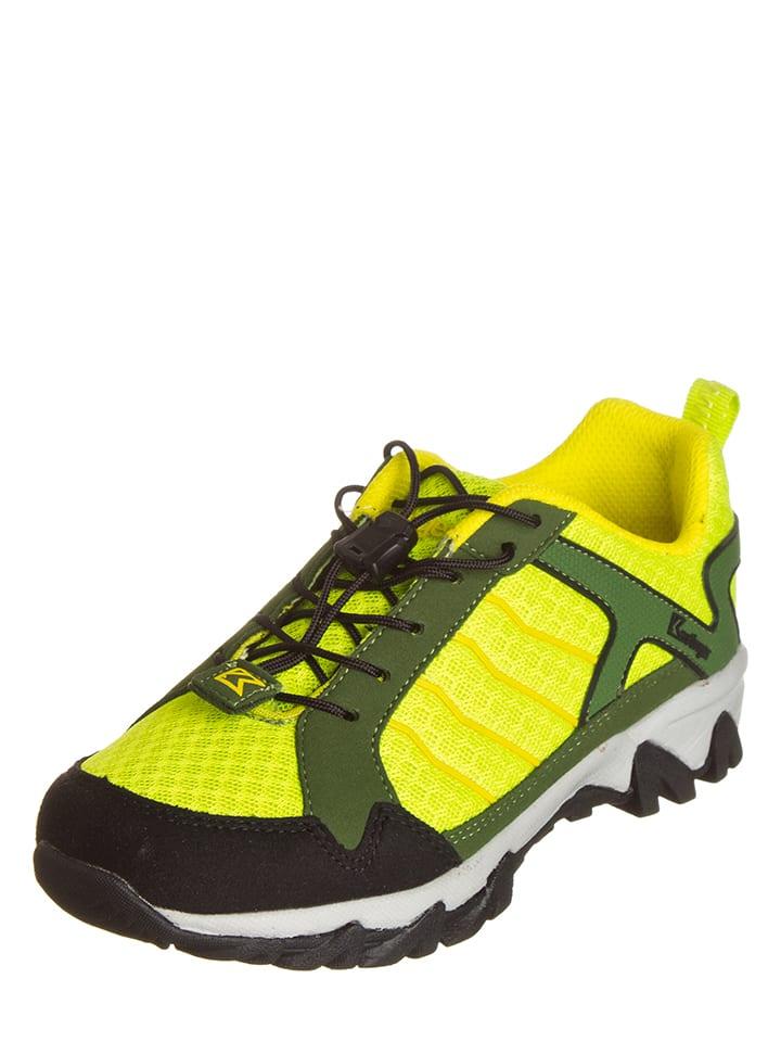 """Kastinger Buty turystyczne """"Trailwalk"""" w kolorze żółto-zielonym"""