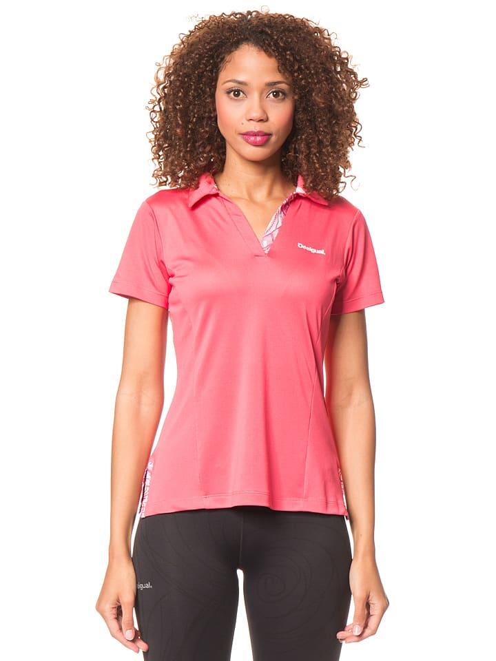 Desigual Sport Koszulka polo w kolorze różowym