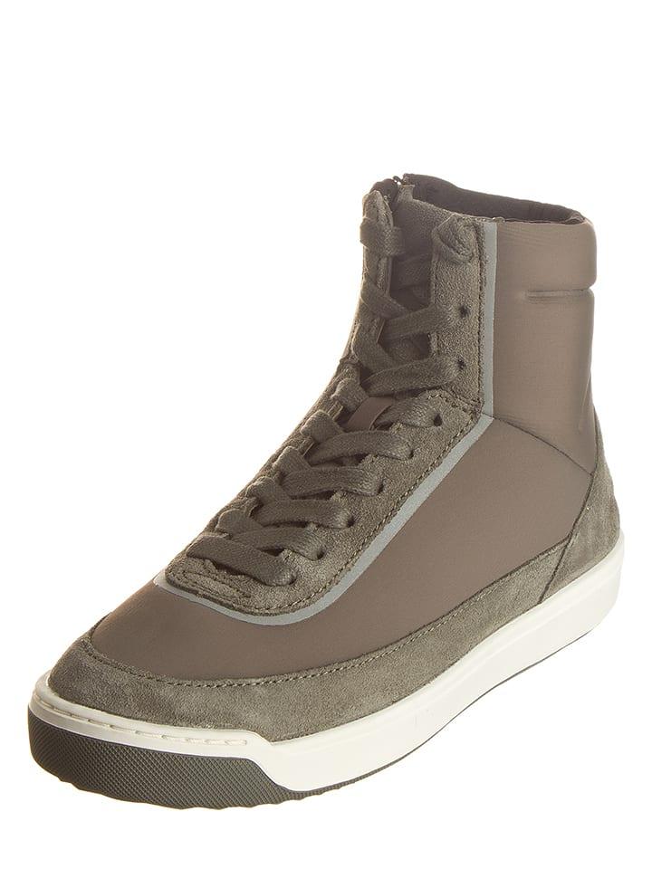 Lacoste Sneakersy w kolorze szarobrązowym
