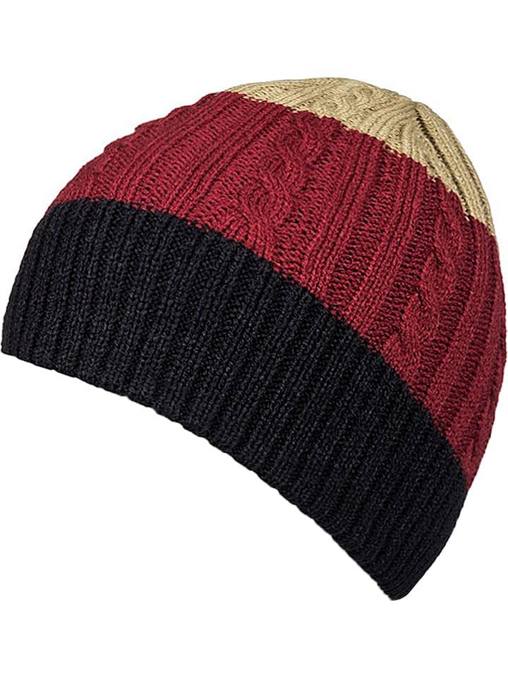 Quiksilver Dzianinowa czapka w kolorze czarno-czerwono-żółtym
