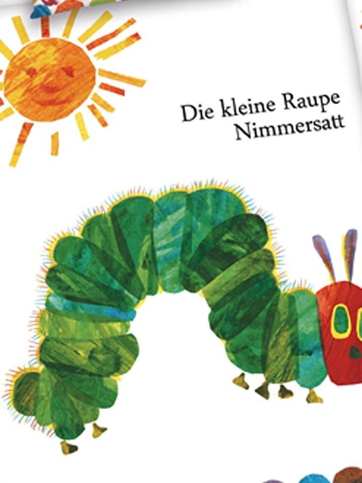 Herding Renforcé Bettwäsche Set Raupe Nimmersatt In Weiß Bunt
