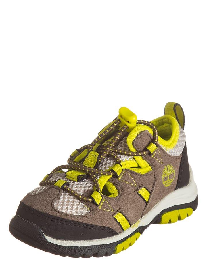 """Timberland Skórzane buty turystyczne """"Fisherman"""" w kolorze szarobrązowo-żółtym"""