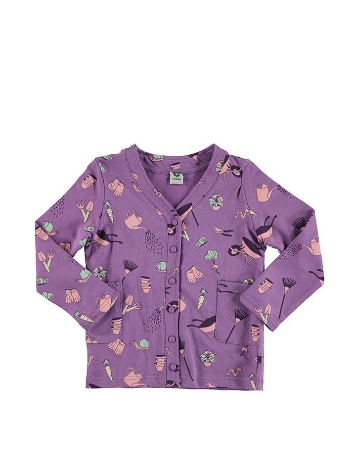 Småfolk Kardigan w kolorze fioletowym