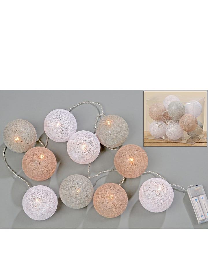 Boltze Łańcuch świetlny LED w kolorze biało-pomarańczowo-beżowym - dł. 165 cm