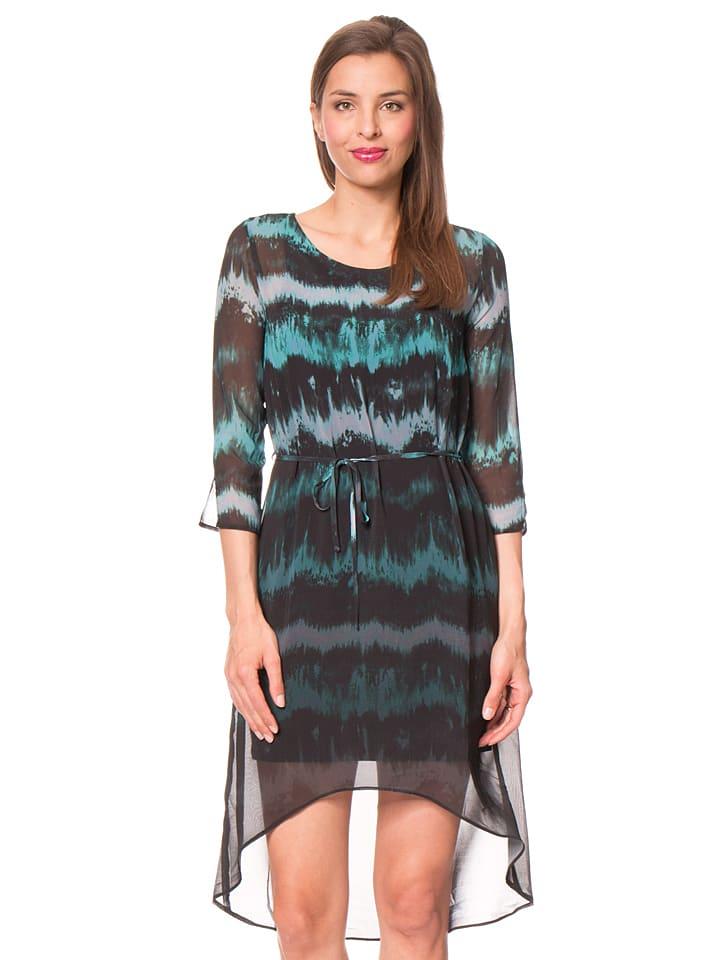 """Desigual Sukienka """"Manresa"""" w kolorze czarno-turkusowym"""