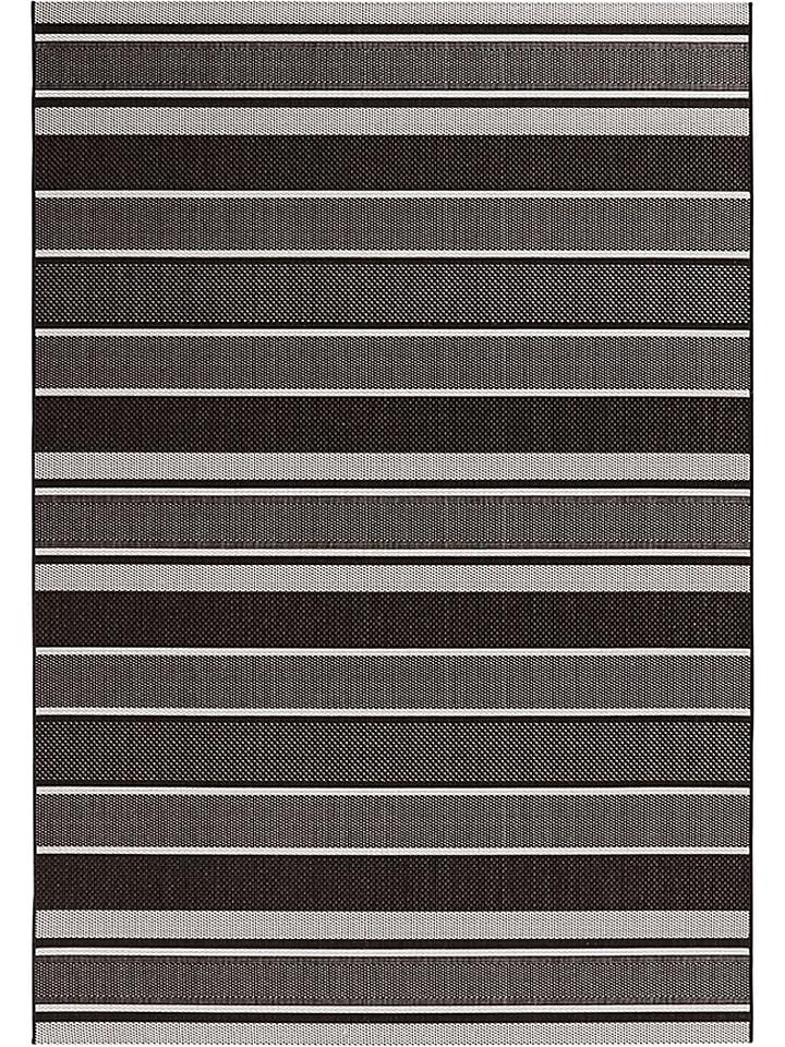 Bougari Indoor-/ Outdoor-Teppich ´´Strap´´ in Schwarz - 45% | Größe 80x200 cm | Teppiche fussmatten