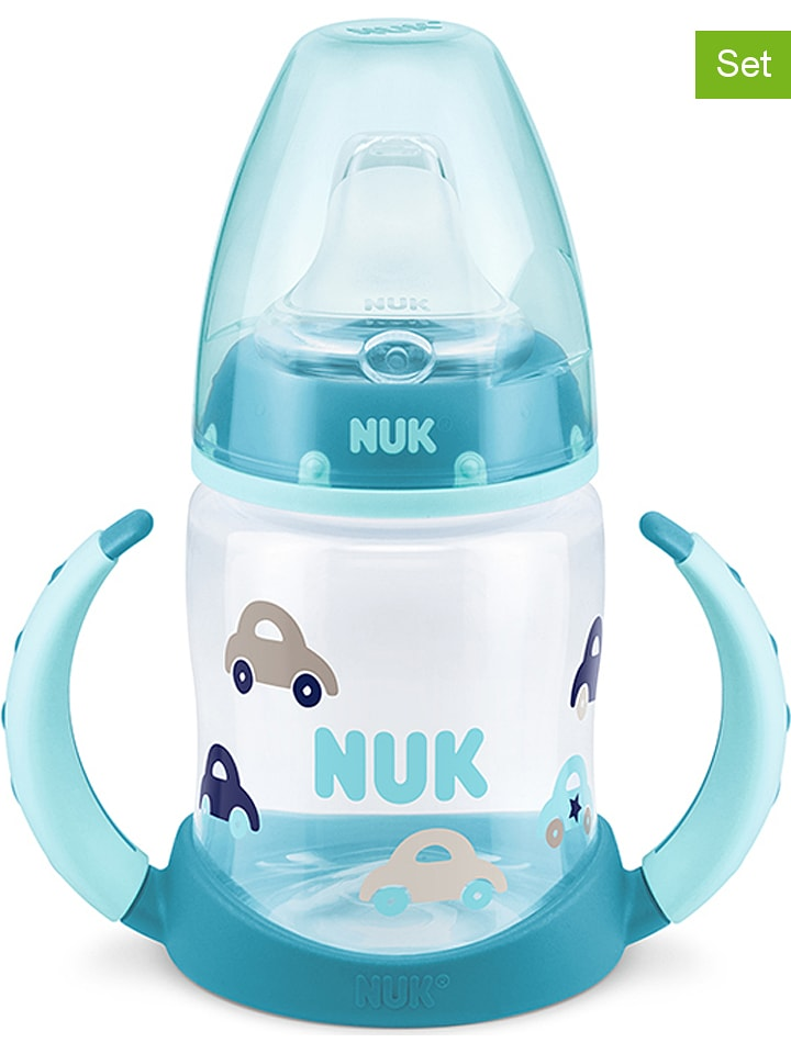 "NUK 2-delige set: drinkleerflessen ""First Choice"" turquoise - 2x 150 ml"