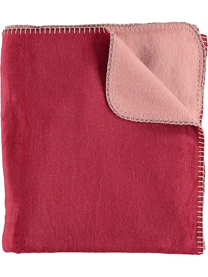 Fussenegger Koc w kolorze czerwono-jasnoróżowym