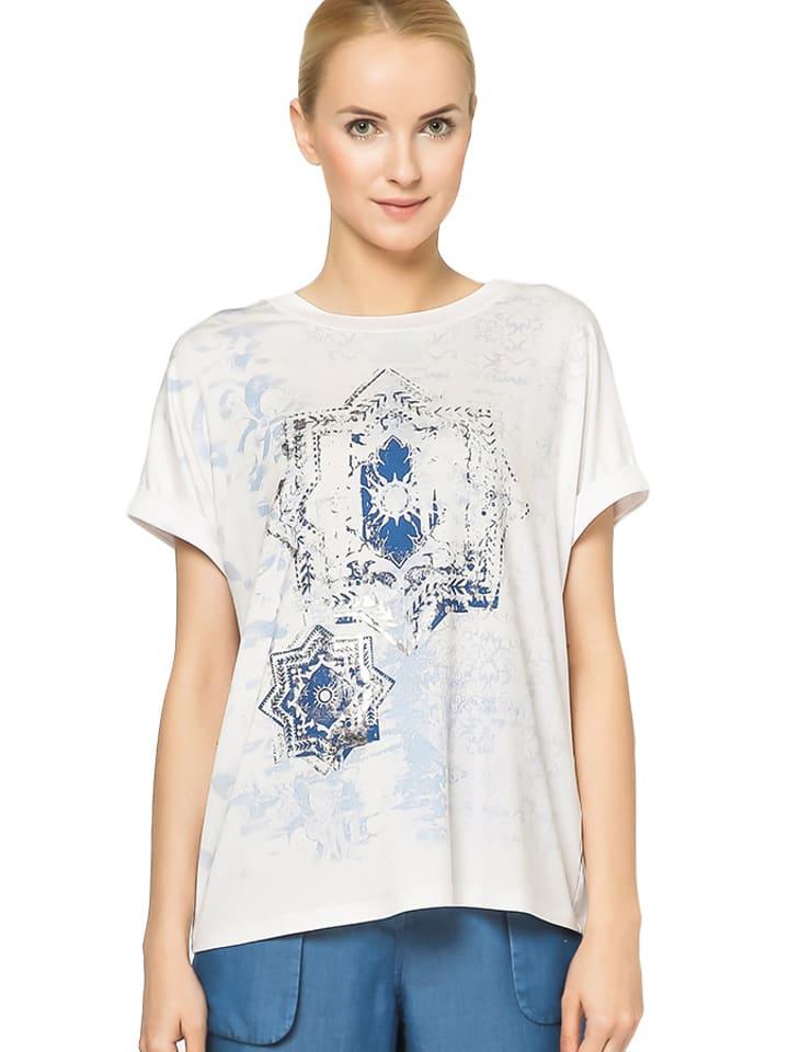 Deni Cler T-shirt w kolorze białym