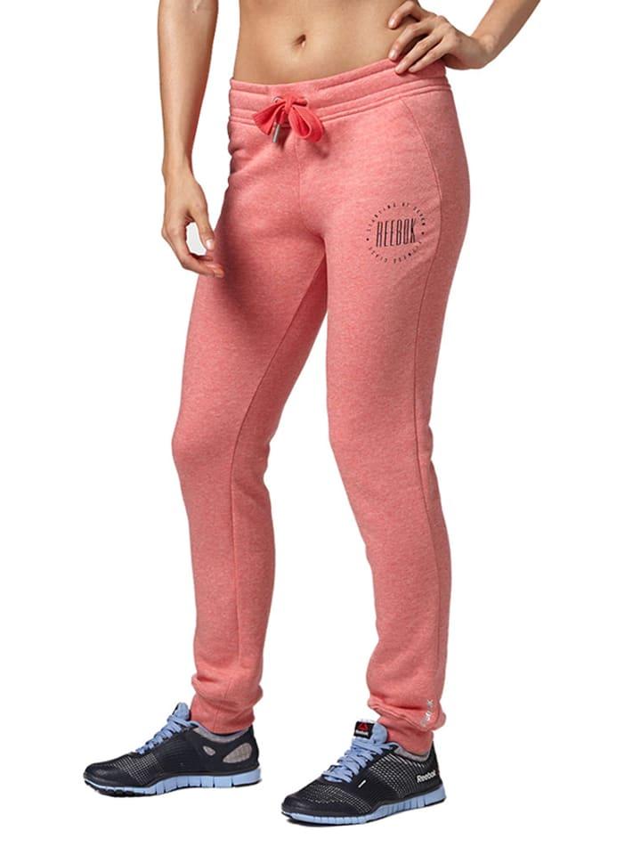Reebok Spodnie w kolorze różowym