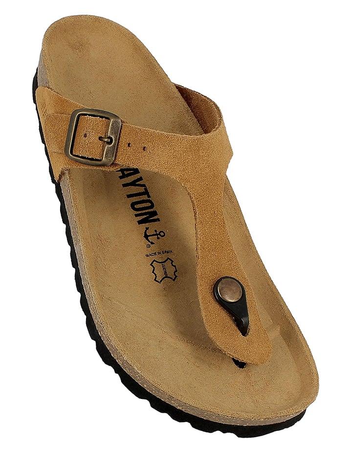 BAYTON - Sandales à bride en cuir - marron clair   Outlet limango e9a83b40310d