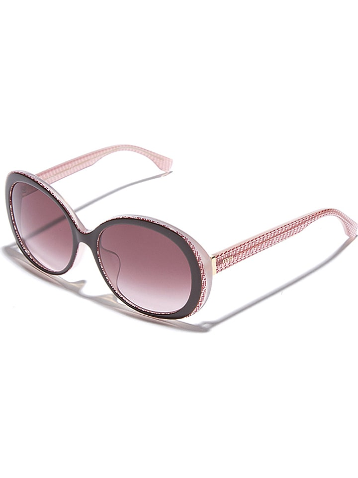 Fendi Damskie okulary przeciwsłoneczne w kolorze różowo-brązowym