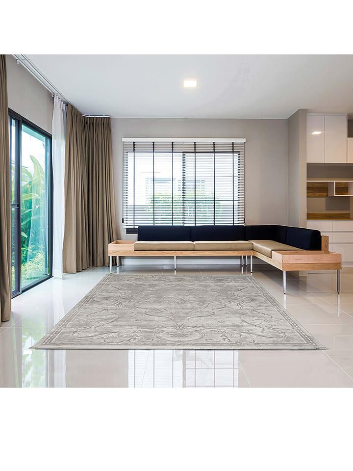 "Laagpolig tapijt ""Manhattan - Vintage"" grijs"