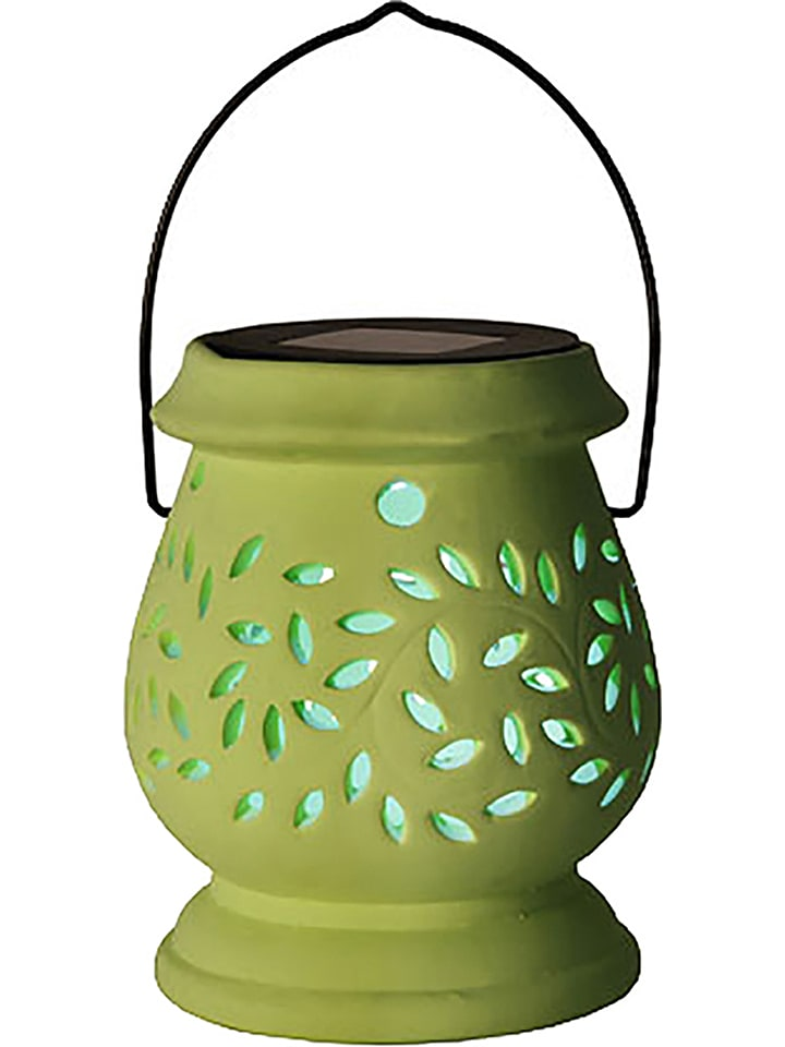 "Best Season Ledsolarlamp ""Clay Lantern"" groen - (H)14 cm"