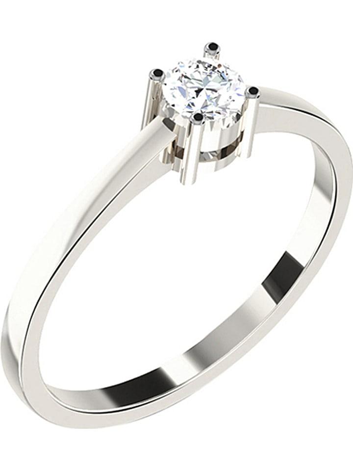Jewellery of India Weißgold-Ring mit Diamant - 84% | Größe 57 | Schmuck