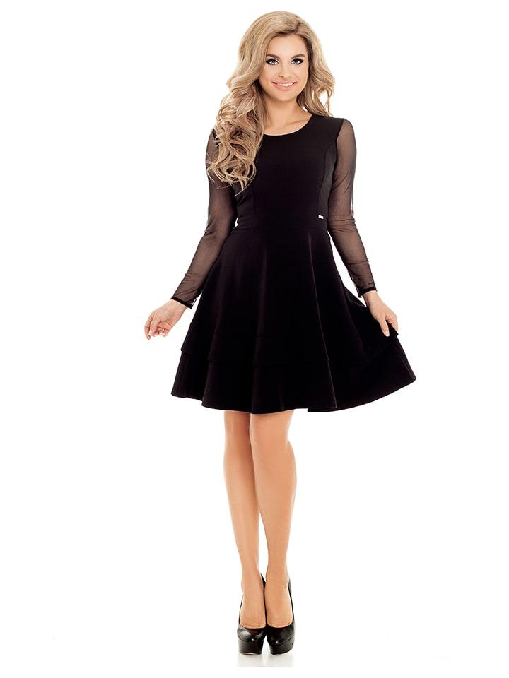 Numoco Sukienka w kolorze czarnym
