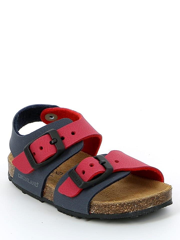"""Grünland Junior Sandały """"Afre"""" w kolorze granatowo-czerwonym"""