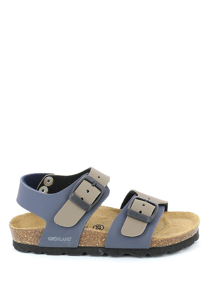 Grünland Junior Sandały  w kolorze granatowo-beżowym