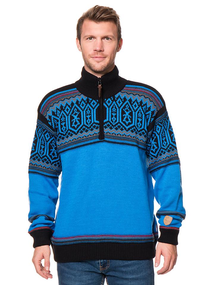 CMP Sweter w kolorze niebiesko-czarnym