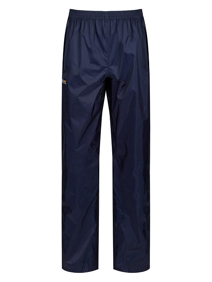 """Regatta Spodnie przeciwdeszczowe """"Pack It"""" w kolorze granatowym"""
