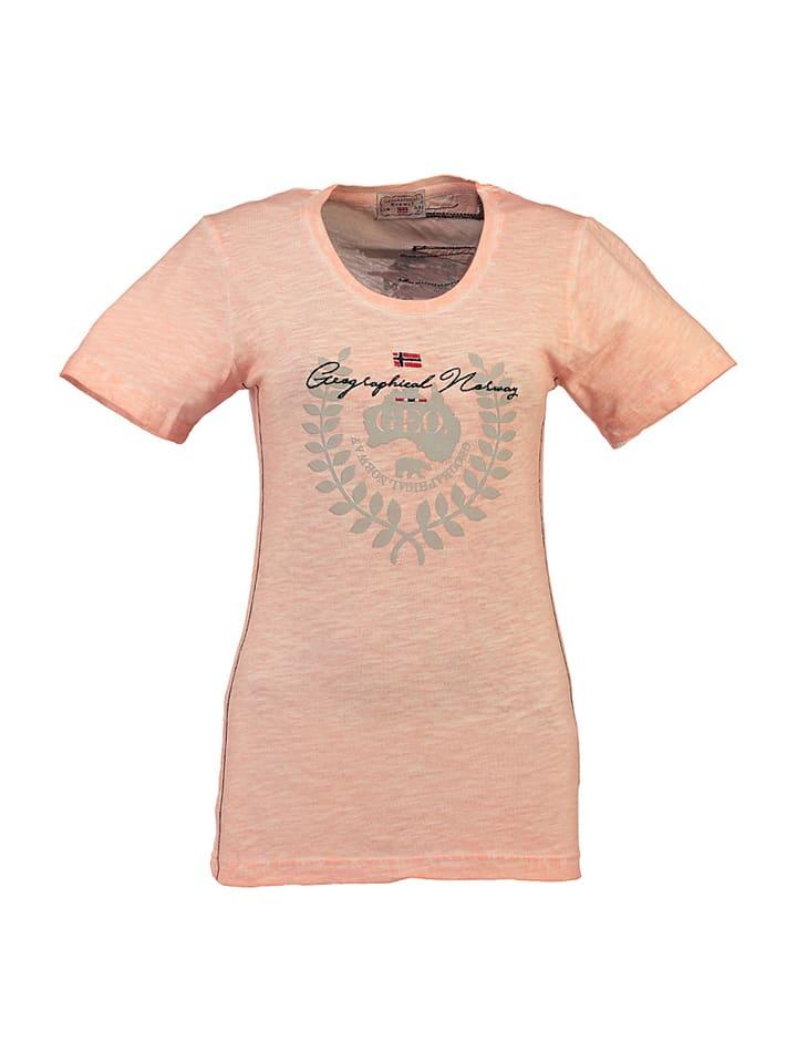 """Geographical Norway Koszulka """"Jarcentiel"""" w kolorze koralowym"""