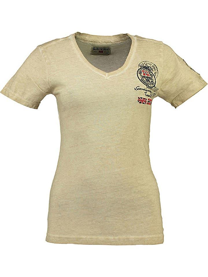 """Geographical Norway Koszulka """"Jody"""" w kolorze beżowym"""