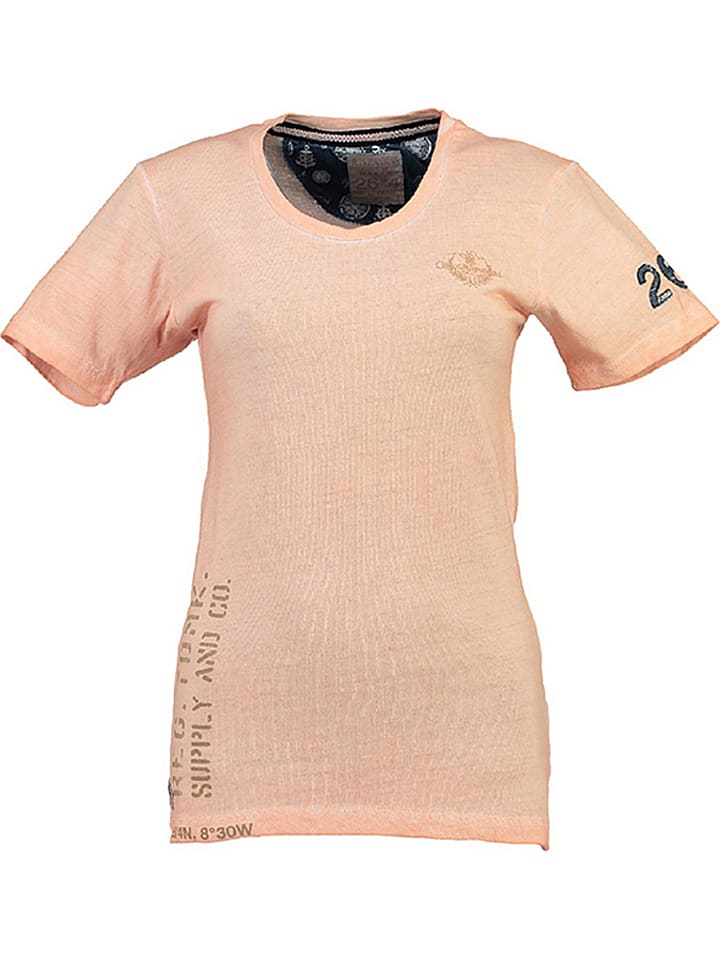 """Geographical Norway Koszulka """"Judefruit"""" w kolorze brzoskwiniowym"""