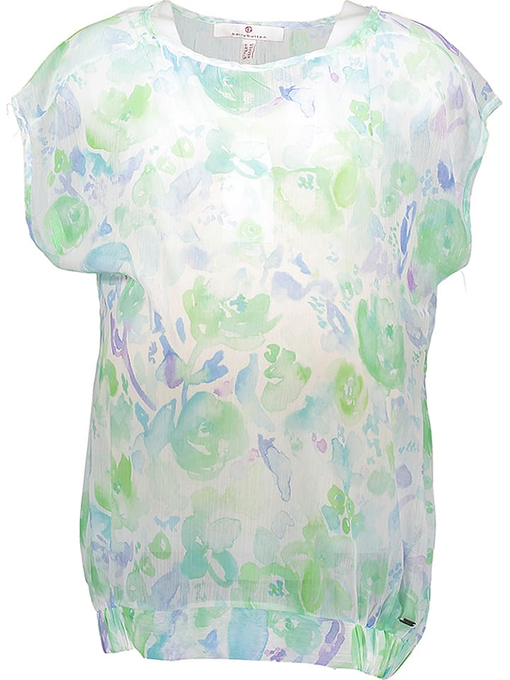 Bellybutton Shirt in Weiß/ Hellgrün