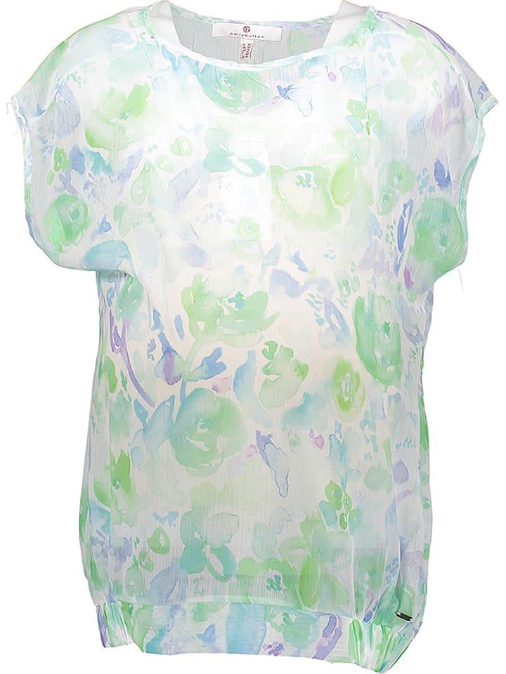 Bellybutton Umstandsshirt in Weiß/ Hellgrün