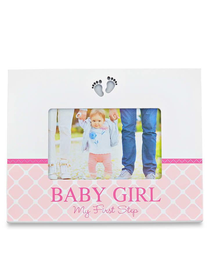 "Babuqee LED-Bilderrahmen ""Baby Girl"" in Rosa - (B)26 x (H)19 x (T)2,2 cm"