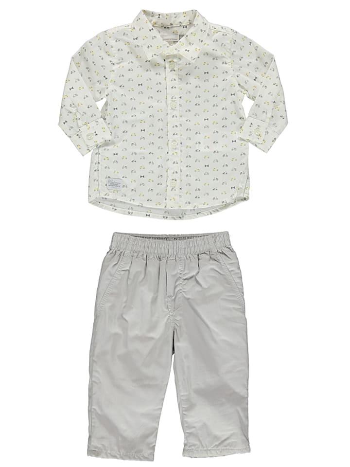 Catimini 2-delige outfit wit/grijs