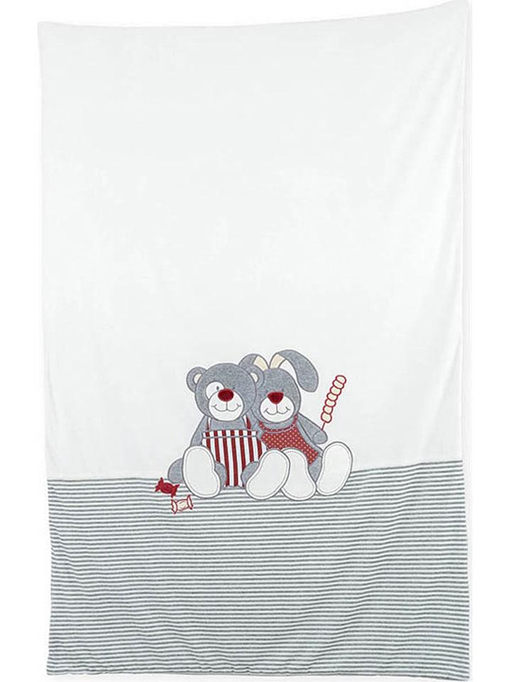 """Trois kilos sept Koc """"Praline et Caramel"""" w kolorze szaro-białym - 140 x 90 cm"""