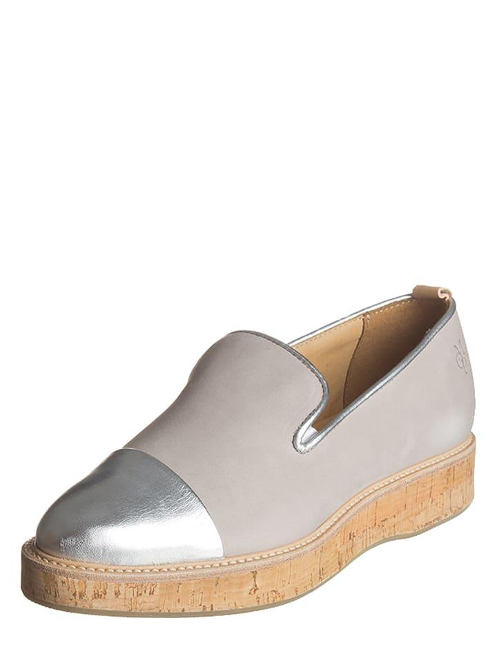 Marc O'Polo Shoes Leren instappers grijs/zilverkleurig
