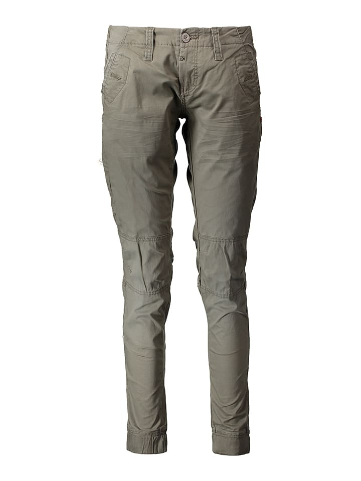 Timezone Chino - Regular fit - in Oliv