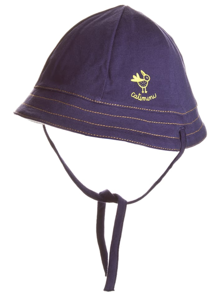 Catimini Omkeerbare hoed donkerblauw/lichtgrijs