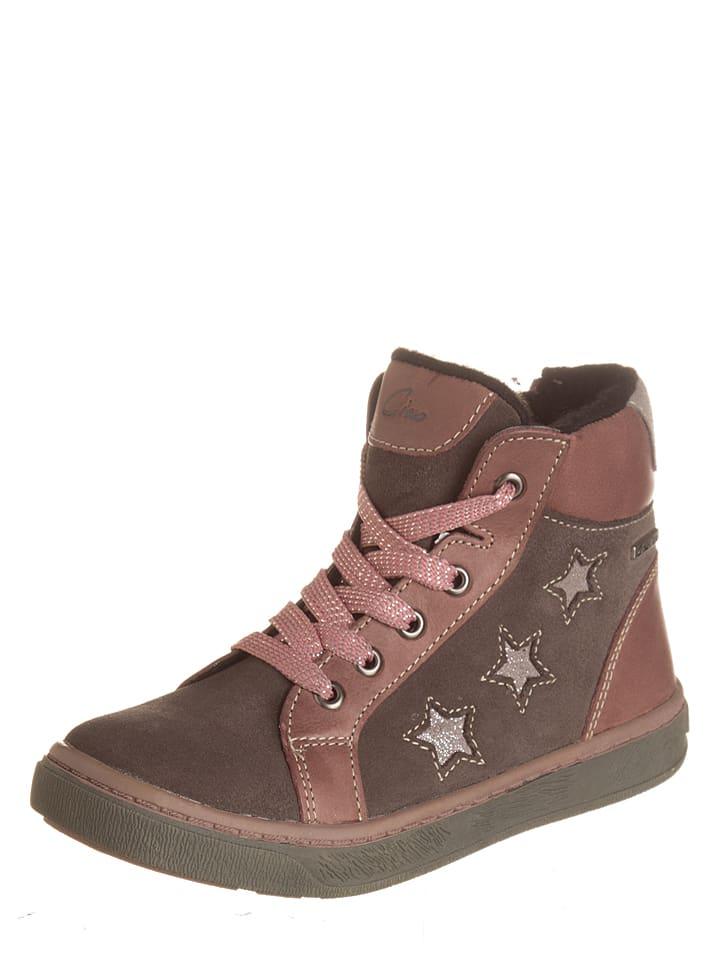 Ciao Skórzane sneakersy w kolorze brązowym
