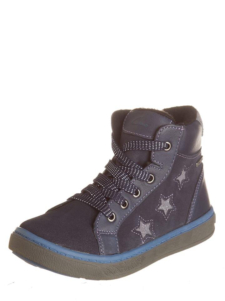 Ciao Skórzane sneakersy w kolorze niebieskim