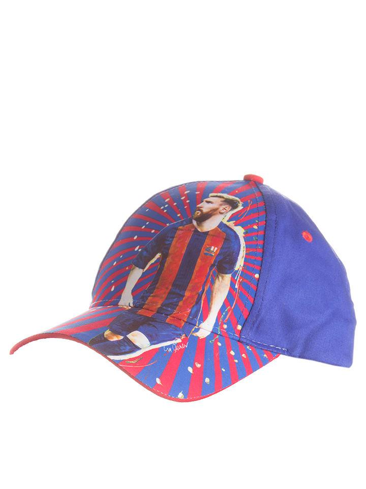 """FC Barcelona Czapka """"LM87"""" w kolorze niebieskim"""