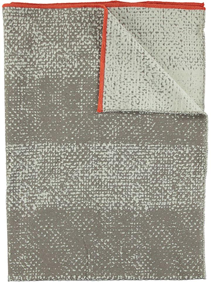 Fussenegger Koc welurowy w kolorze szarobrązowo-białym