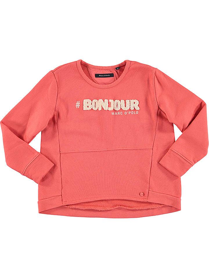 Marc O'Polo Junior Bluza w kolorze brzoskwiniowym