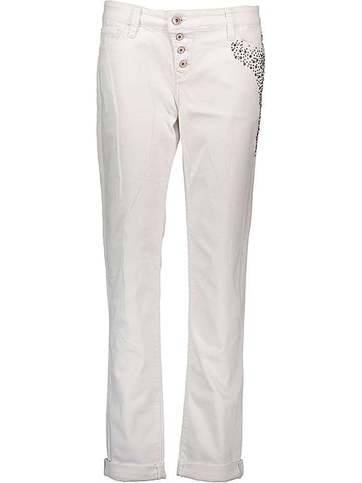 """Mavi Jeans Dżinsy """"Andrea"""" - Boyfriend - w kolorze białym"""