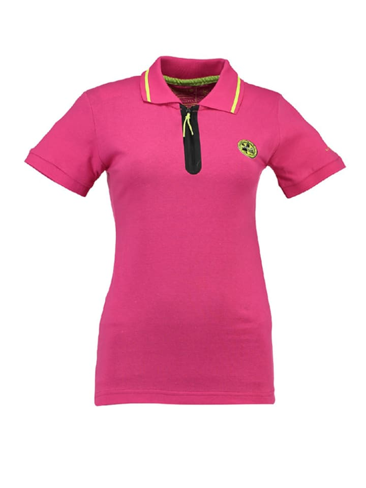 "Geographical Norway Poloshirt ""Kwartz"" roze"