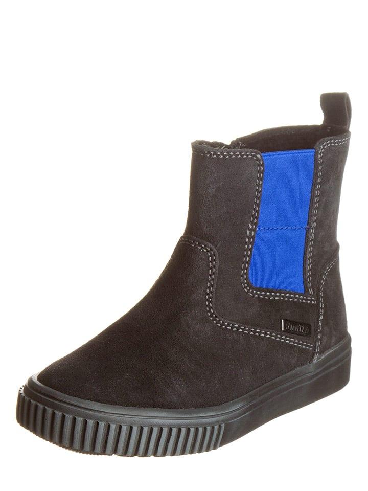 Richter Shoes Skórzane sztyblety w kolorze szarym