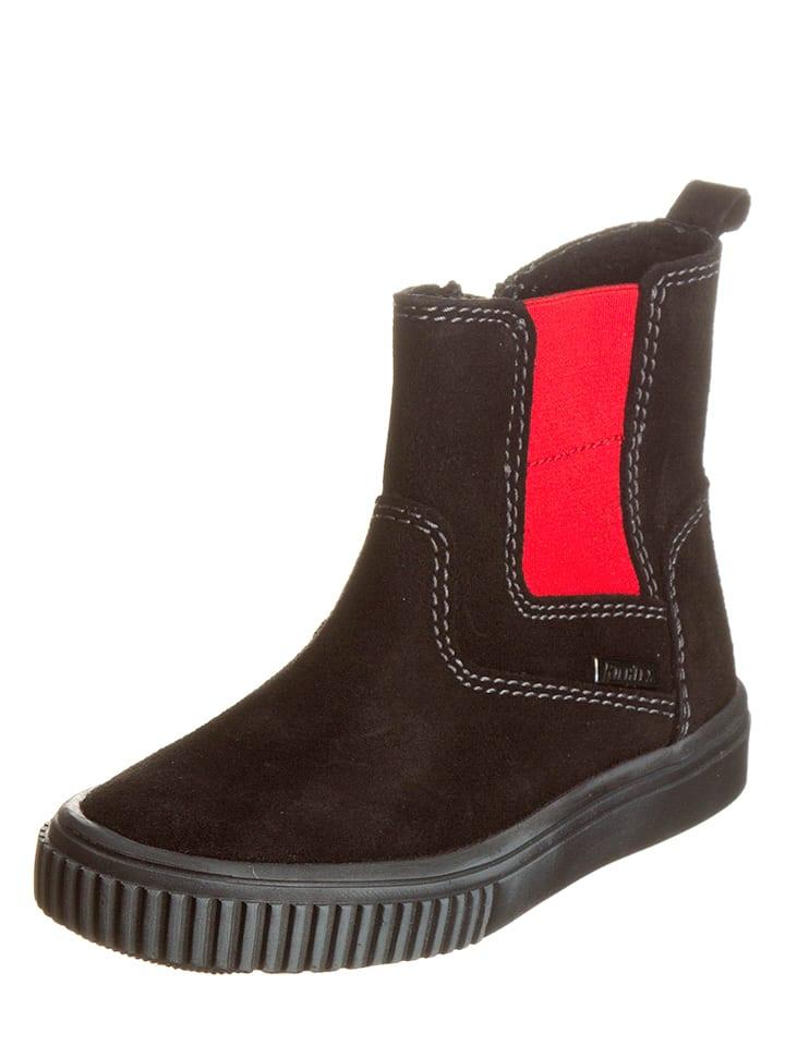 Richter Shoes Skórzane sztyblety w kolorze czarnym