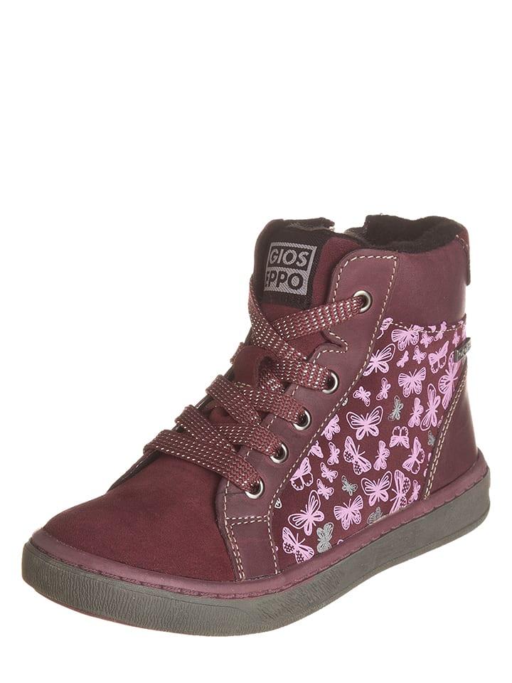 Gioseppo Skórzane sneakersy w kolorze fioletowym