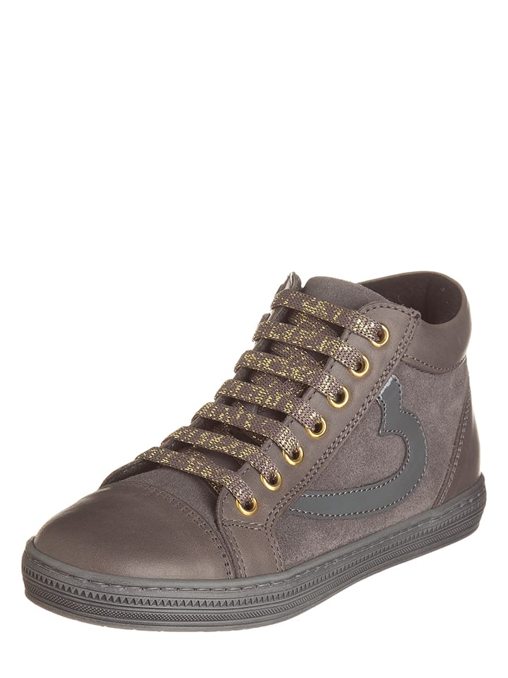 EXK Leder-Sneakers in Grau