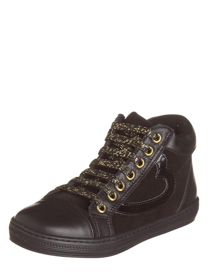 EXK Skórzane sneakersy w kolorze czarnym