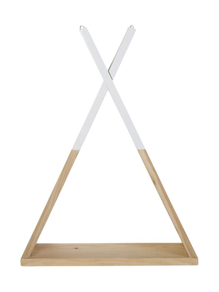 Childhome Półka w kolorze jasnobrązowo-białym - (S)35 x (W)47 x (G)12 cm
