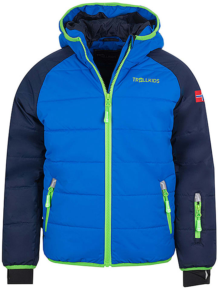 """Trollkids Kurtka narciarska """"Hafjell"""" w kolorze niebiesko-granatowym"""