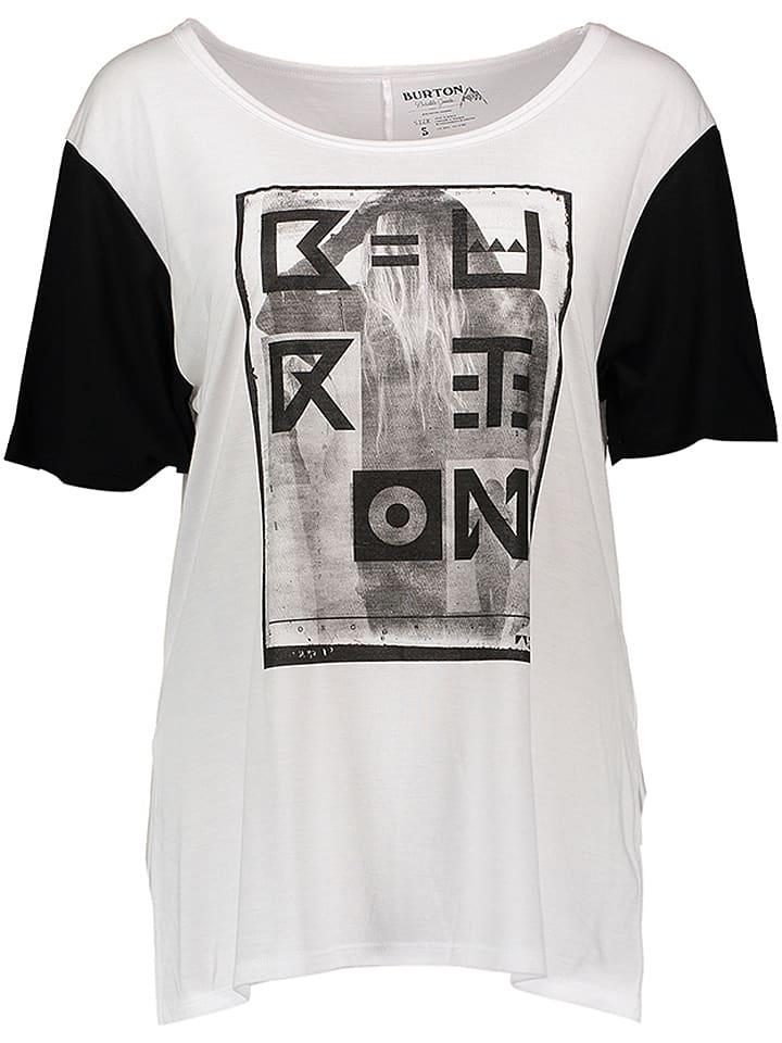 """Burton Koszulka """"Boyfriend"""" w kolorze biało-czarnym"""